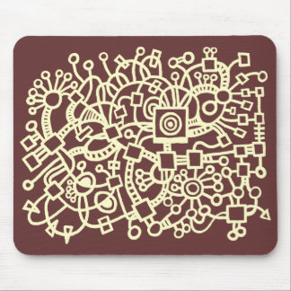 Abstract Structure - Cream on Chocolate Mouse Pad