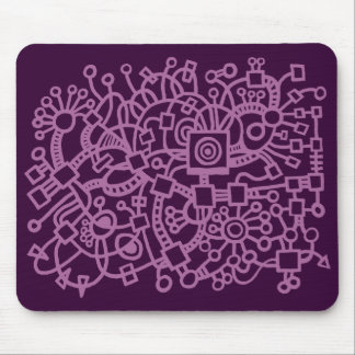 Abstract Structure - Dust Plum on Dark Plum Mouse Pad