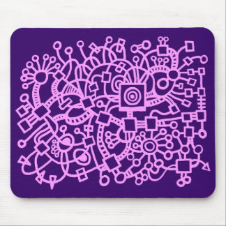 Abstract Structure - Light Violet on Deep Purple Mouse Pad