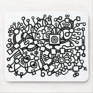 Abstract Structure Mouse Pad