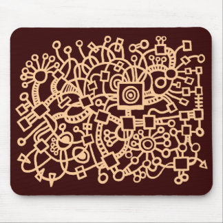 Abstract Structure - Sand on Dk Brown Mouse Pad