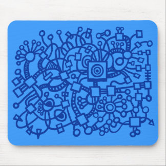 Abstract Structure - Shades of Blue Mouse Pad