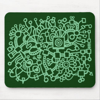Abstract Structure - Shades of Green Mouse Pad