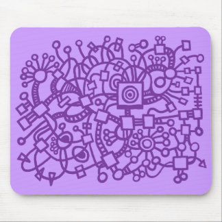 Abstract Structure - Shades of Purple Mouse Pad