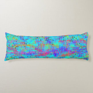 Abstract Structured Chaos Body Pillow