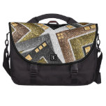 Abstract studded glitter pattern. laptop bag