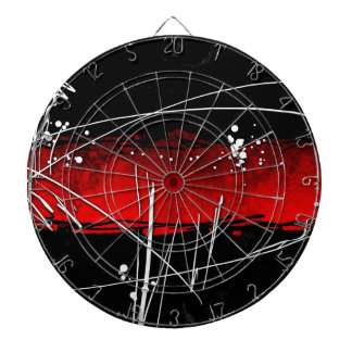 Abstract style 16 dart board