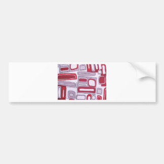 Abstract Style Bumper Sticker