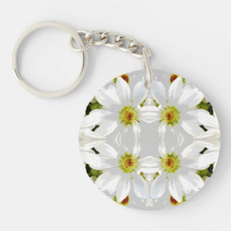 Abstract Style Flowers. Keychain