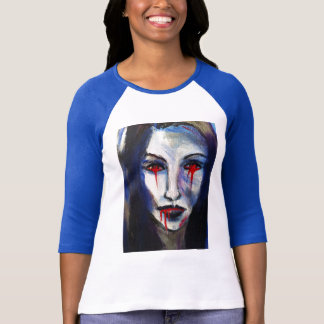 Abstract style vampire figure T-Shirt