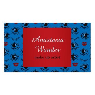 Abstract stylish pattern make up artist profession business card