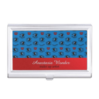 Abstract stylish pattern make up artist profession business card holder