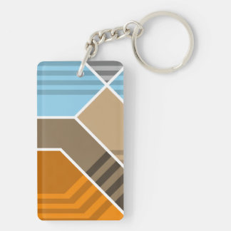 Abstract Subduction Zone Acrylic Key Chain