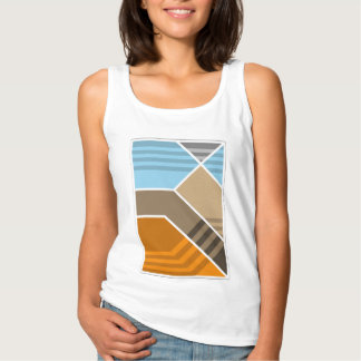 Abstract Subduction Zone Geology Tank Top