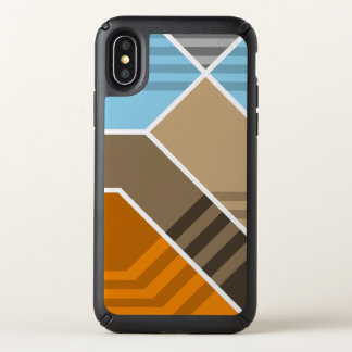 Abstract Subduction Zone Speck iPhone X Case