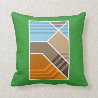 Abstract Subduction Zone Throw Pillow