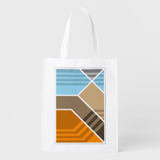 Abstract Subduction Zone (Two-Sided) Reusable Grocery Bag