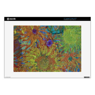 ABSTRACT Summer Flowers Decals For Laptops