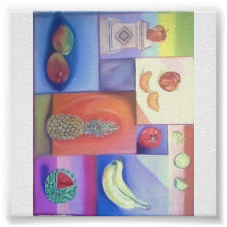 Abstract - Summer Fruit Mix Poster