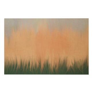 Abstract Summer Sunset Wood Wall Decor
