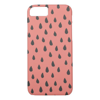 Abstract Summer Watermelon Seeds Pattern iPhone 7 Case