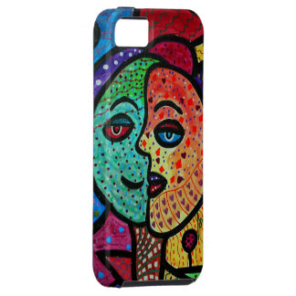 ABSTRACT SUN AND MOON COUPLE iPhone 5 CASES