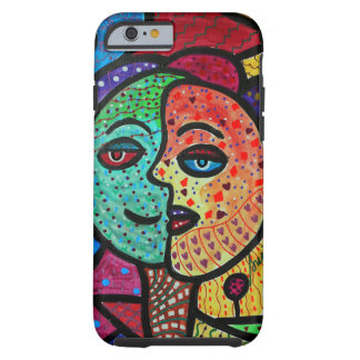 ABSTRACT SUN AND MOON COUPLE iPhone 6 CASE