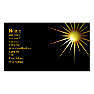 Abstract Sun Business Card