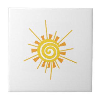 Abstract Sun Ceramic Tile