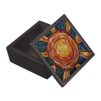 Abstract Sun Colors In Motion Gift Box