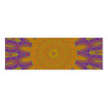 Abstract Sun Design Double-Sided Mini Business Cards (Pack Of 20)