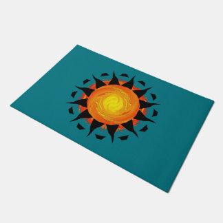Abstract Sun Flower Doormat