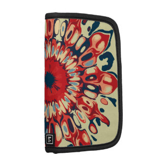 Abstract SUN FLOWER - red blue + your backgr. Planners