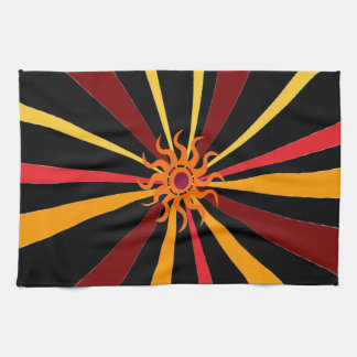 Abstract Sun Kitchen Towels