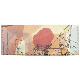 Abstract Sun Line Art Wallet