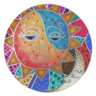 Abstract Sun & Moon by Prisarts Plate