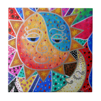 Abstract Sun & Moon by Prisarts Ceramic Tiles
