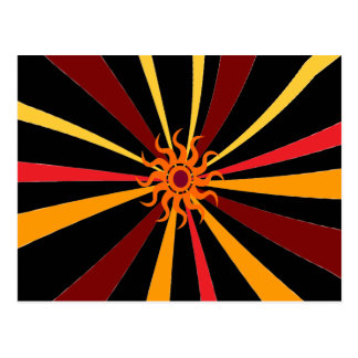 Abstract Sun Postcard
