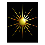 Abstract Sun Postcard at Zazzle