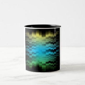 Abstract Sun Sky Ground Two-Tone Coffee Mug