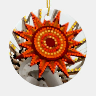 abstract sunburst image christmas ornaments