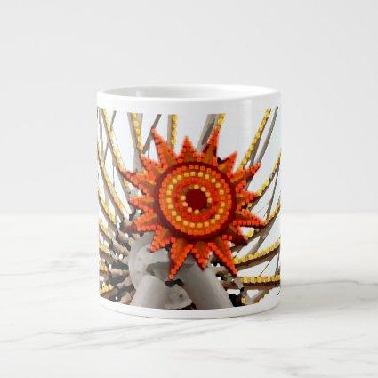 abstract sunburst image jumbo mug