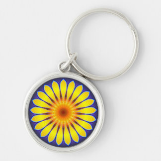 Abstract sunflower Key Chain