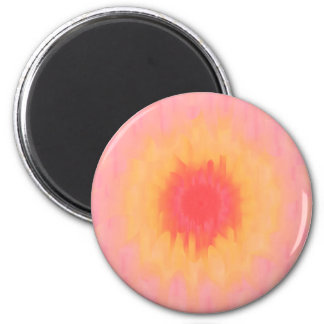 Abstract Sunflower 2 Inch Round Magnet