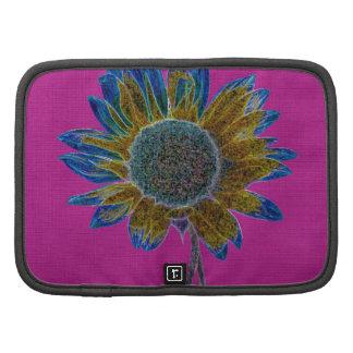 Abstract Sunflower on Magenta Organizers