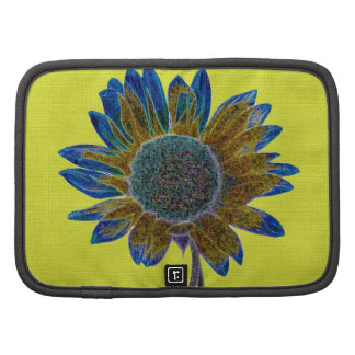Abstract Sunflower on Metallic Gold Planners