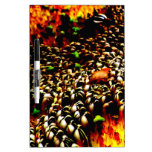 Abstract Sunflower Seeds Plant Photo Design Dry-Erase Whiteboards