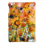 Abstract Sunflower Watercolor Artsy Ipad Mini Case