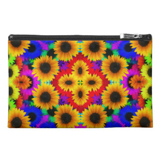 Abstract Sunflowers Art Travel Accessory Bags