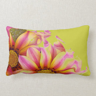 ABSTRACT SUNFLOWERS ARTISTIC LT OLIVE BACKGROUND PILLOW